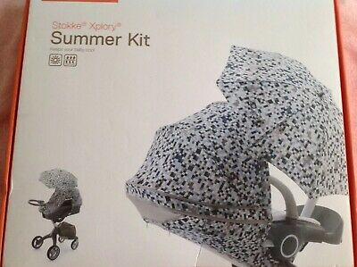 Stokke Summer Kit Blue Pixel ,brand New ,ideal For A Boy.all Contents In Box.🦋