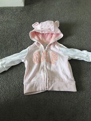 Gap Baby 0-3 Months Girl Hoodie Jacket With Zip At Front BNWOT