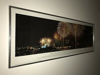 Pickup 1/2 Price - New Years Eve Sydney Harbour 2000 Panoramic Print Phil Gray