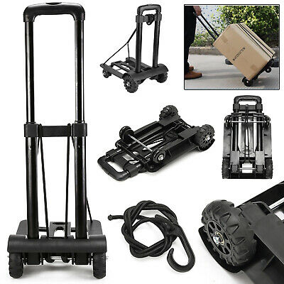 Heavy Duty Folding Hand Sack Truck Trolley Wheel Barrow Cart Luggage Platform UK