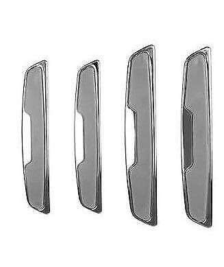 4 x Grey/Chrome Door Boot Guard Protectors Insert (DG7G) fits PEUGEOT