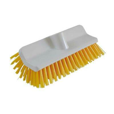 High / Low Deck Scrubbing Brush Food Safe autoclavable Yellow Brush heavy duty