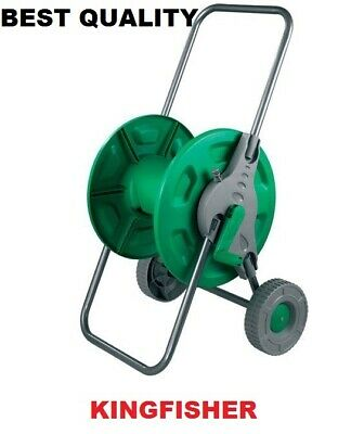 Portable Garden Hose Pipe Trolley Cart Watering Free Standing Rust Proof New