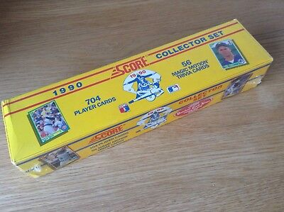 Complete Set Score 1990 MLB Baseball Trading Cards Boxed And Sealed Still