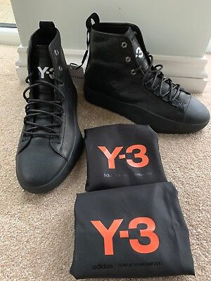 21d490f6c11a9 ADIDAS Y3 BASHYO II High Top Sneakers Trainers Uk 10.5 Eu 44.5 Black ...