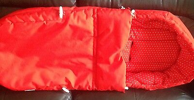Stokke Red Soft Bag, Ex Display , Ideal For Scoot,crusi ,trailz,or Any Stroller