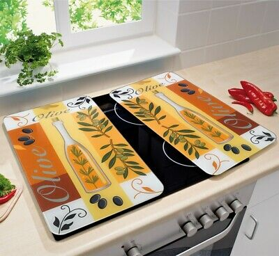 2pcs Set Glass Cooker Cover Plates Cutting Board Hob Protection Panel ✅WENKO