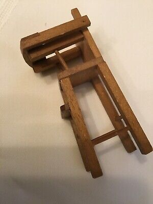 Vintage Wood Doll House Furniture Baby High Chair