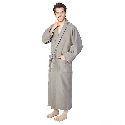 0d4a26da2f Charcoal Bath Robe Soft Cotton Terry Waffle Robes for Women Unisex New  Bathrobe