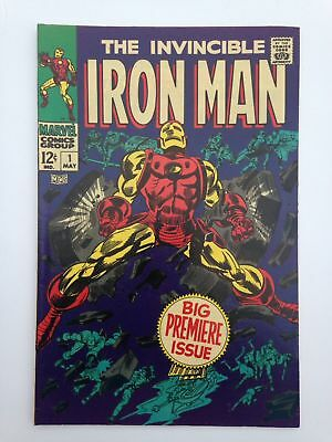 Iron Man #1 High Grade 9.2 Or Better Copy  White Pages  Estate Find