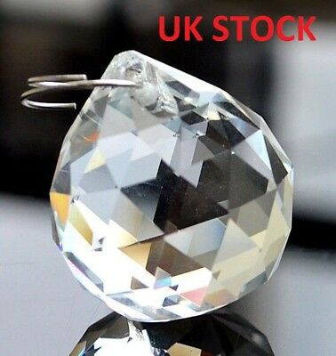 20 x Clear Crystal Lighting Ball Prism Hanging Pendant Wedding Home Decor 40MM