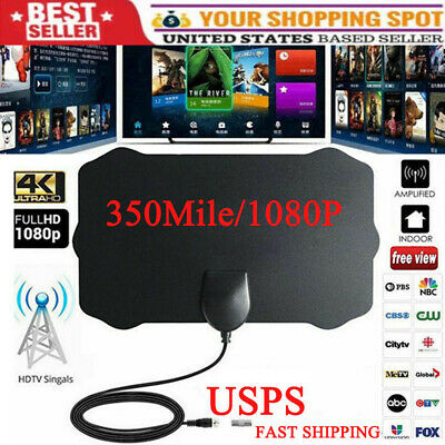 350 Mile Range Antenna TV Digital HD Skywire Antena Digital Indoor HDTV 1080p US