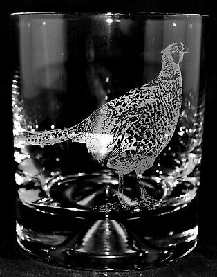PHEASANT 30cl Whisky / Water Glass Tumbler - BOXED