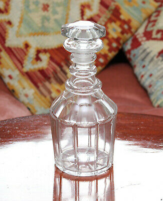 A Delightful Triple Ring Georgian Cut Glass Decanter