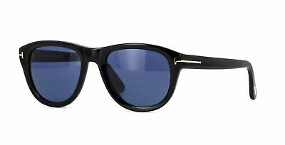 5ac145f89b Tom Ford Benedict TF520 01V Sunglasses Shiny Black Frame Blue Lenses 53mm