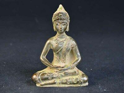 China Statue Südostasien Bronze Figure Of Buddha Meister Skulptur Deco Art 19.Jh