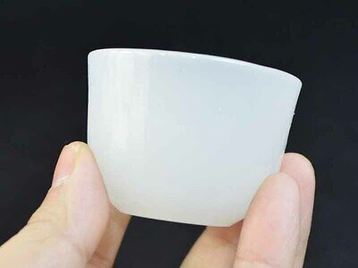 Precious Natural Jade Tea Bowl Cup Decorated Old Mascots Hand-carved Collection*