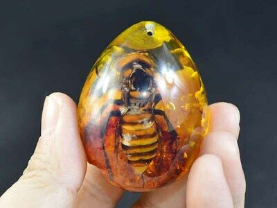 Fine China Deco Collectibles heart-shaped Amber Inlay Wasps Delicate Statue Art