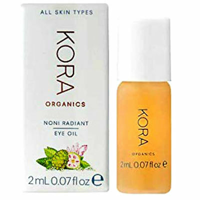 KORA Organics Noni Radiant Eye Oil with Rose Quartz ~ .07 fl. oz. ~ NEW IN BOX!