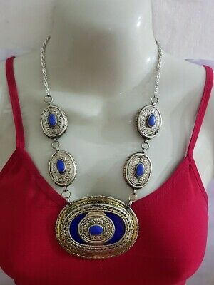 Beautiful Afghan kuchi Traditional lapis necklace , gypsy Ethnic jewel/Afghan je