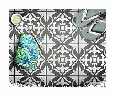 GIBRALTAR Mediterranean Tile - Furniture Wall Floor Stencil for Painting