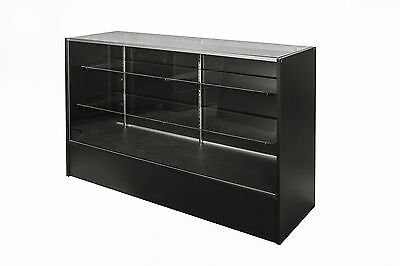 Glass Display Counter 1500L- Black