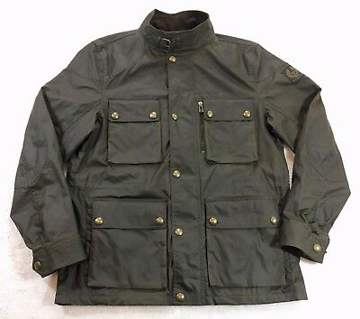 3fc267638e Belstaff Trialmaster 2015 Waxed Cotton Jacket Faded Olive Men's Sz Medium  42 US