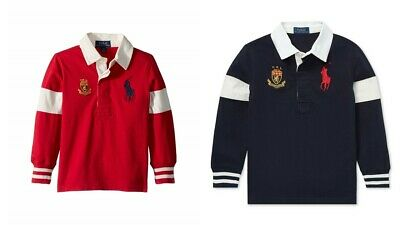 New Polo Ralph Lauren Boys Big Pony Cotton Rugby Shirt MSRP $59.50 NEW