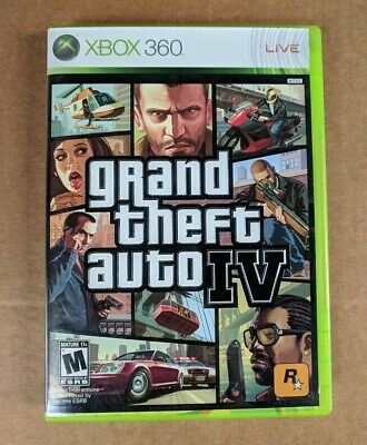 Grand Theft Auto 4 IV Xbox 360 Video Game Complete With Manual - Used