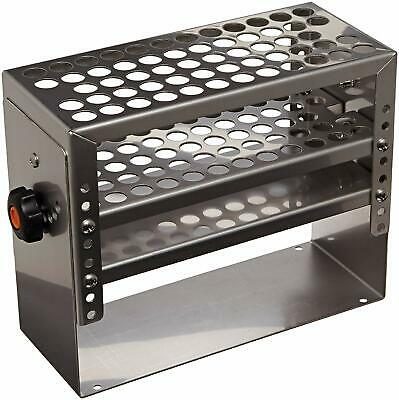 Lab Companion AAA23584 14mm x 58 Holes Test Tube Rack Stainless Steel Pivot New