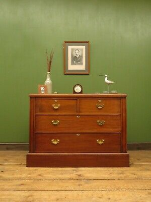 Handsome Antique Chest of Drawers, Walnut Drawers