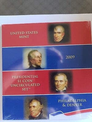 2009 US Presidential $1 Coin Uncirculated Set - Both P&D mints Unopened Sealed