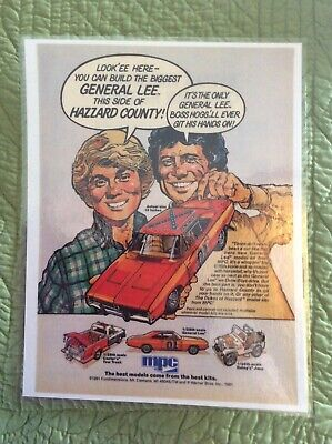Dukes of Hazzard MPC model Repint ad General Lee,Cooters tow truck,Daisy's Jeep