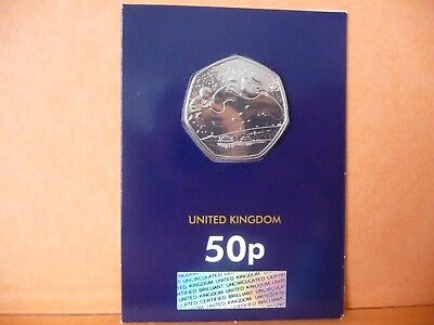 2018The Snowman Fifty Pence 50p Coin Brilliant Uncirculated BU - Certified Pack
