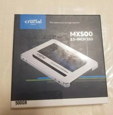 "Crucial MX500 500GB SSD 3D NAND 2.5"" Internal Solid State Drive"