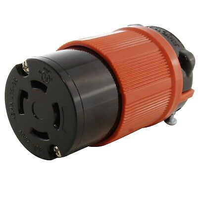 30 Amp 250 Volt NEMA L15-30R Locking Female Connector Assembly by AC WORKS®