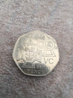 rare 50p 2006 Victoria Cross coin