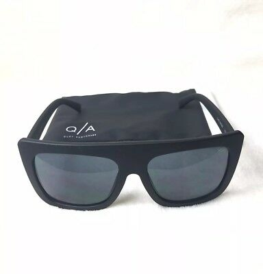 8a0a5d9fb5 Quay Australia Cafe Racer Black And Smoke Oversized Square Womens Sunglasses