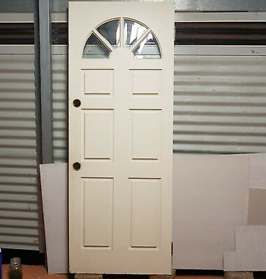 Solid Timber Front Door with Glass Arch Panels