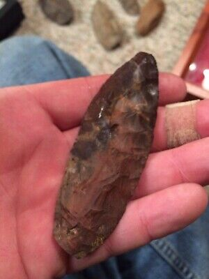 """Arrowheads- Excellent 3 5/8"""" Horse Creek Knife Point Alabama Find"""