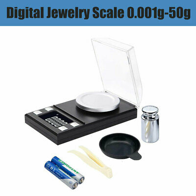 Digital Scale 50g x 0.1g Jewelry Gold Silver Coin Grain Gram Pocket Size Herb