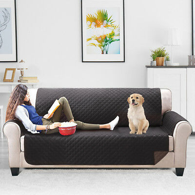 Quilted Sofa Couch Cover Chair Pet Dog Kids Mat Furniture Protector 3 Size