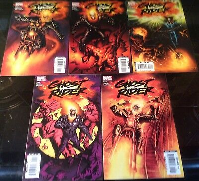 Ghost Rider Marvel 2006 Issues 1,2,3,4,5 Daniel Way Writes