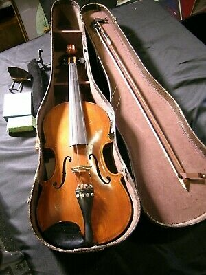 Vintage Signed Old Copy Joseph Guarnerius violin 1734 Violin with Case & Bow