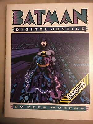 Batman - Digital Justice - Pepe Moreno 1990 Hardcover Graphic Novel DC Comics