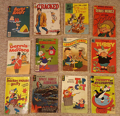 Dell, Gold Key, Fawcett & Whitman Comics - Lot of 12 from 1959 to 1978