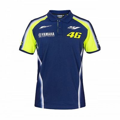 2018 Valentino Rossi Moto GP VR 46 YAMAHA Team Polo shirt Mens OFFICIAL *SALE*