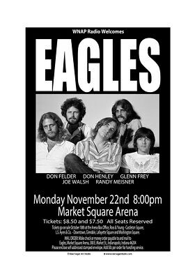 Eagles 1976 Indianapolis Concert Poster