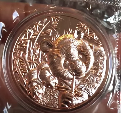 Nanjing Mint 2016 Panda Copper China Coin Medal -- 3 days only!