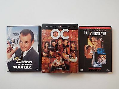 3 DVD-Peter Gallagher-O.C. First Season-NEW-Man Knew Too Little-Underneath-VG***